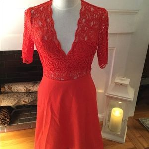Zara Red lace dress